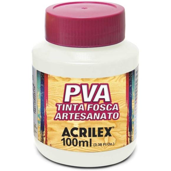 TINTA PLASTICA PVA FOSCA 100ML BRANCO ACRILEX