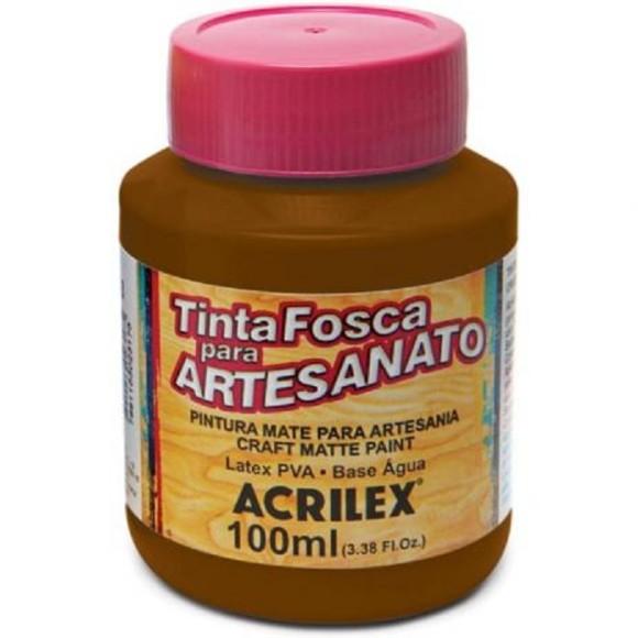 TINTA PLASTICA PVA FOSCA 100ML MARROM ACRILEX