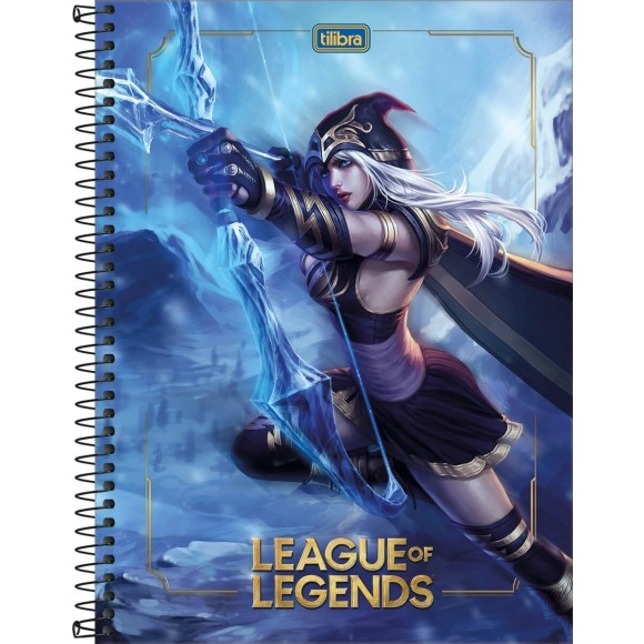 CADERNO CAPA DURA UNIV. 1X1 80FLS LEAGUE OF LEGENDS TILIBRA