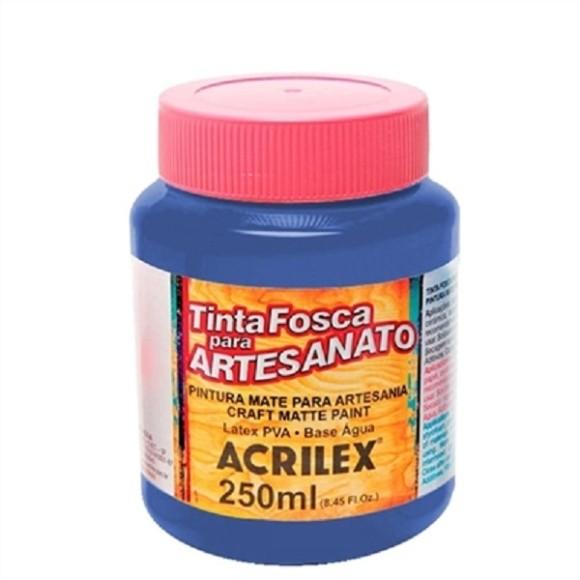 TINTA PLASTICA PVA FOSCA 250ML AZUL TURQUESA ACRILEX