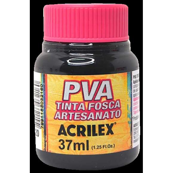 TINTA PLASTICA PVA FOSCA 37ML PRETO ACRILEX