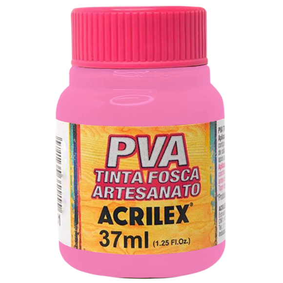 TINTA PLASTICA PVA FOSCA 37ML ROSA ACRILEX