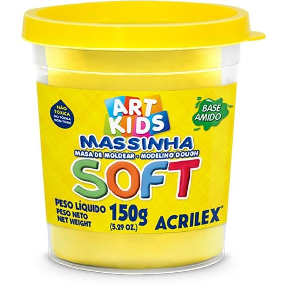 MASSINHA BASE AMIDO SOFT 150GR AMARELO ACRILEX