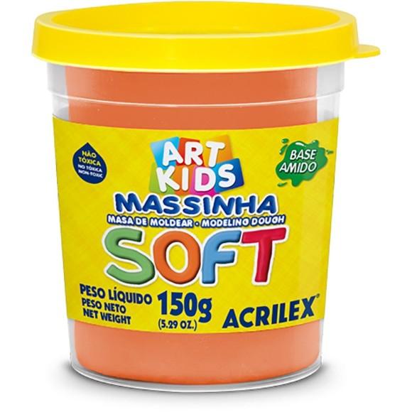 MASSINHA BASE AMIDO SOFT 150GR LARANJA ACRILEX