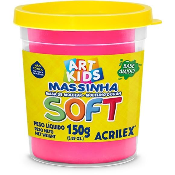 MASSINHA BASE AMIDO SOFT 150GR ROSA ACRILEX