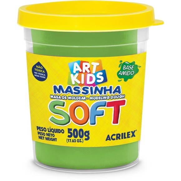 MASSINHA BASE AMIDO SOFT 500GR VERDE ACRILEX
