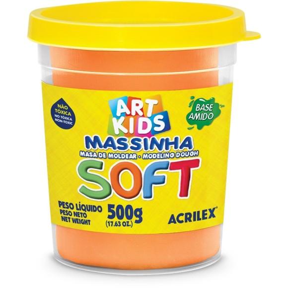 MASSINHA BASE AMIDO SOFT 500GR LARANJA ACRILEX
