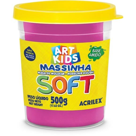 MASSINHA BASE AMIDO SOFT 500GR ROSA MARAVILHA ACRILEX
