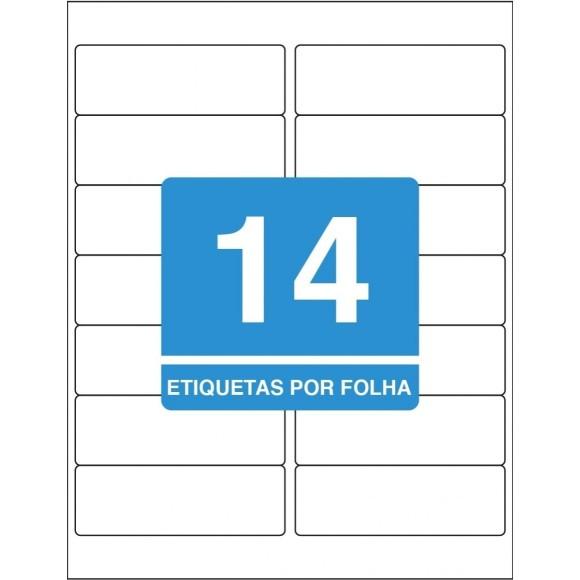 ETIQUETA 33,9 X 101,6 CARTA TB6182 C/100FLS 1400 ETIQS. 14 P/FOLHA TILIBRA