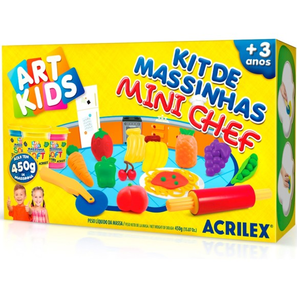 KIT DE MASSINHAS MINI CHEF 450G ACRILEX