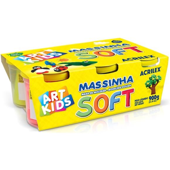 MASSINHA BASE AMIDO 150GR C/6 CORES ACRILEX