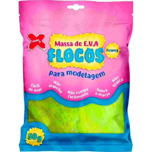 MASSINHA EVA FLOCOS P/SLIME 50GR  MAKE+