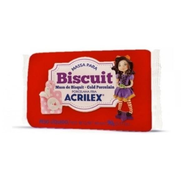 BISCUIT PORCELANA FRIA 90GR VERMELHO ACRILEX