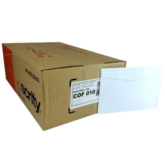 ENVELOPE CARTA 114X162 BRANCO CAIXA C/1000 SCRITY