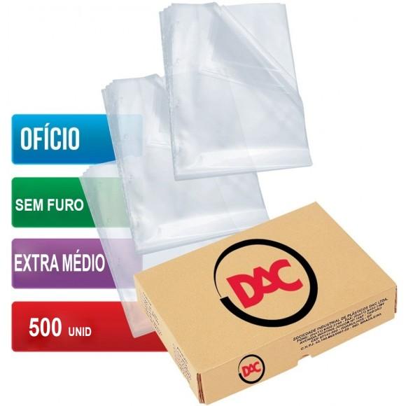 ENVELOPE PLASTICO OFICIO SEM FURO C/500 UNIDADES EXTRA MEDIO 0,12 DAC