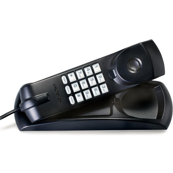 TELEFONE GONDOLA C/FIO PRETO TC20 INTELBRAS